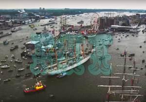 Tráfico en el Puerto de Amsterdam timelapse