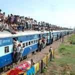 Viaje en tren en la India