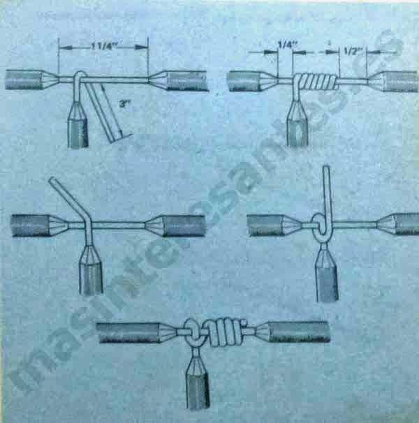 Empalme eléctrico en derivación con amarre de seguridad