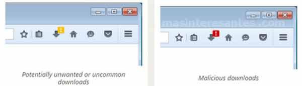 Signos de alerta para descarga en Firefox