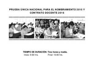 Examen simulacro para nombramiento docente 2015