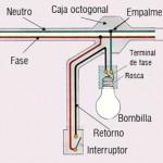 Instalación de un foco con interruptor
