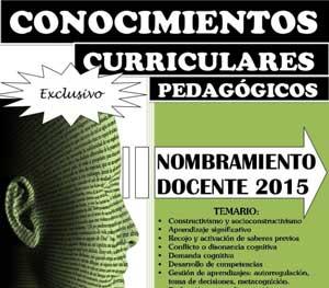 Temario Desarrollado para Nombramiento Docente 2015