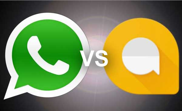 WhatsApp vs Google Allo