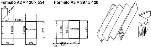 Plegado de papel Formato A2 y A3