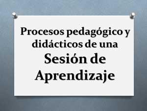 Procesos pedagógico y didácticos de una Sesión de Aprendizaje