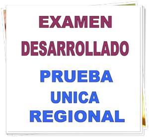 Examen Desarrollado Prueba Única Regional 2009