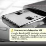 Solucionar USB Dispositivo