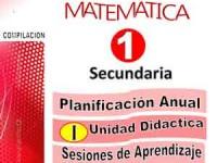 Programación ANual, Unidad I y sesiones de aprednizaje de Primero de Secundaria