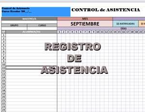 Registro para el Control de Asistencia