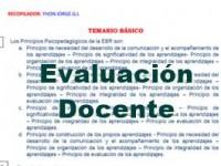 Temario para evaluacion docente