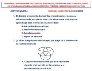 Compilación de simulacros de exámens para evaluación docente