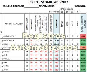 Registros Automatizados en Excel