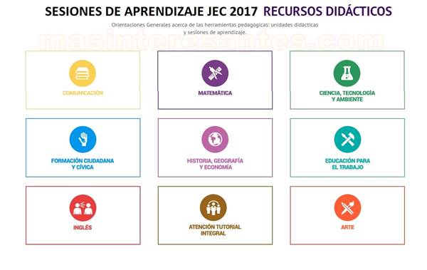 Sesioes JEC 2017 y Recursos Educativos