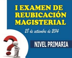 Examen de Reubicación Docente 2014 con clave de respuestas