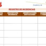 Cuaderno de Registro de Incidencias