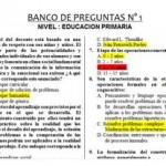 Banco de Preguntas para Ascenso de Escala Magisterial - Primaria - Pedagogía
