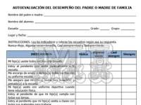 Ficha de evaluación de desempeño de padres de familia
