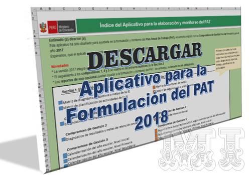 Descargar Aplicativo para la Formulación del PAT 2018
