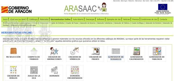 Generador de Horarios ARASAAC