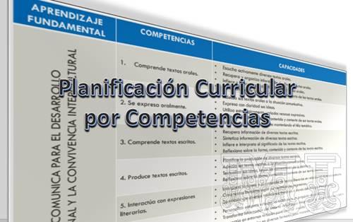 Planificación Curricular por Competencias