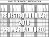 Registro Auxiliar en Word para Primaria