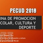 PECUD 2018 Oficina de Promoción Escolar Cultura y Deporte
