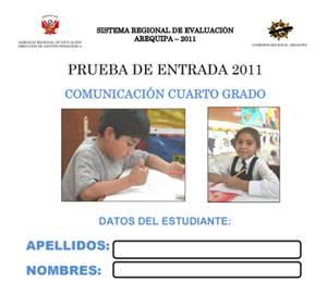 Prueba de Entrada de Comunicación 3er Grado