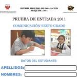 Prueba de Entrada de Comunicación 6to Grado
