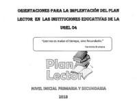 Orientaciones para la Implementación del Plan Lector