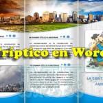 Cómo hacer un tríptico en Word