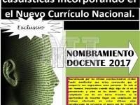 Casuistica resuelto para Nombramiento Docente 2017