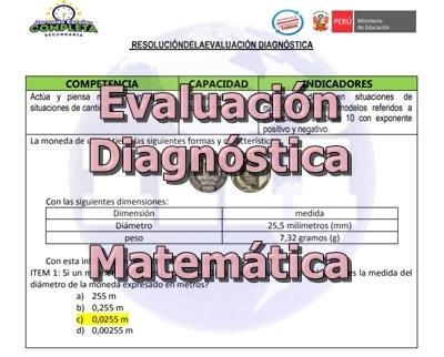 Evaluación Diagnóstica de Matemática
