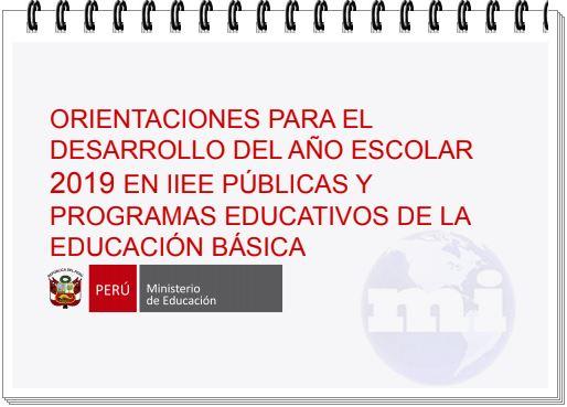 Desarrollo del Año Escolar 2019