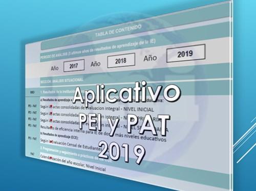 Aplicativo PAT y PEI 2019