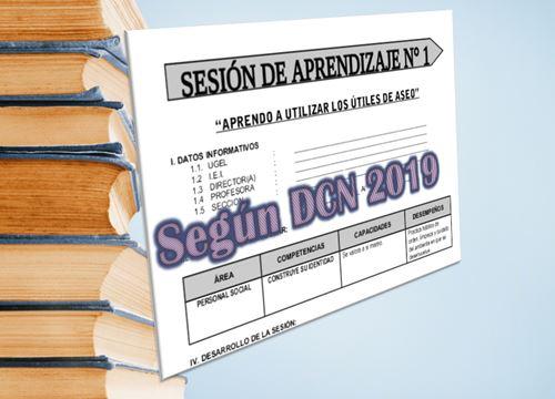 Modelo de sesion de aprendizaje segun DCN 2019