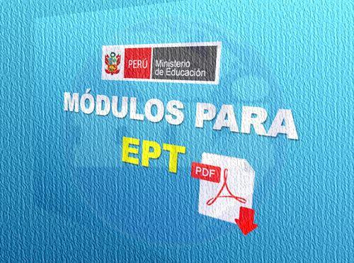 Catálogo De Módulos Para Educación Para El Trabajo Ept