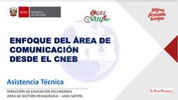 enfoque del area de comunicacion desde el curriculo nacional
