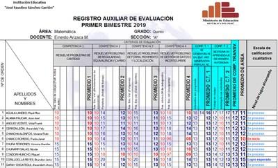 registro auxiliar 2019 secundaria 400