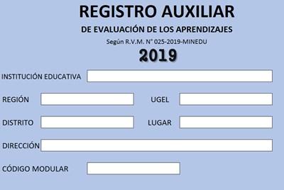 registro auxiliar secundaria 2019
