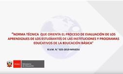 Evaluacion de los aprendizajes 2019
