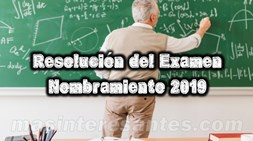 solucion del examen de nombramiento 2019