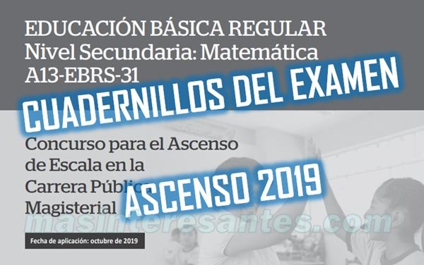 cuadernillos del examen de ascenso 2019