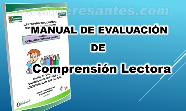 manual de evaluacion de comprension lectora 600
