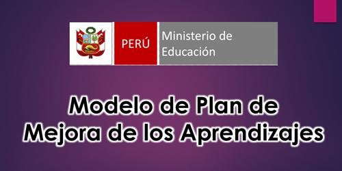 plan de mejora de los aprendizajes