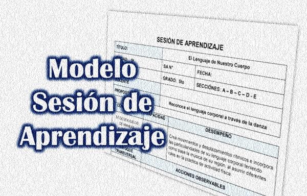 modelo de sesion de aprendizaje