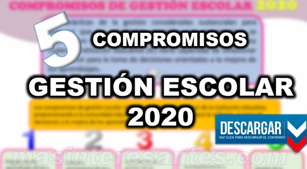 5 compromisos gestion escolar 2020
