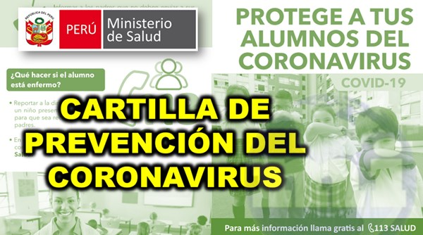 cartilla de prevencion coronavirus minsa