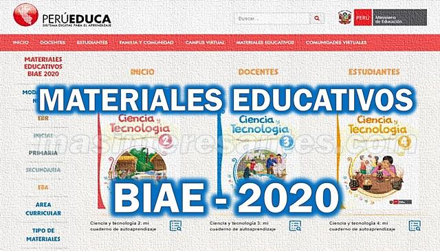 materiales educativos biae 2020 perueduca