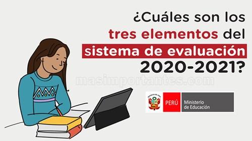 elementos del sistema de evaluación 2020 2021